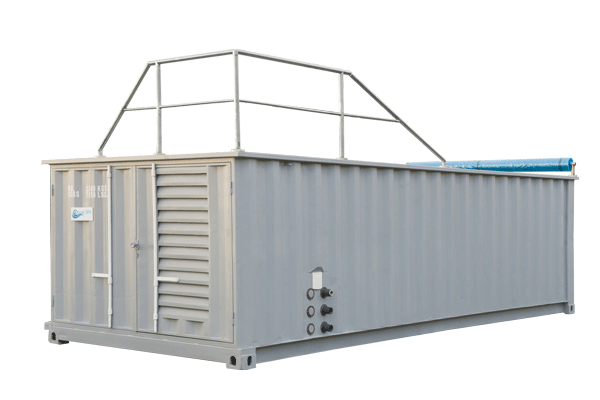 Swimming pool in the container